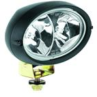 Hella-H15161031-Oval 100 Halogen Work Lamp; Clear Lens; Black Housing; Double Beam; Long Range; 12V 55W; Each;