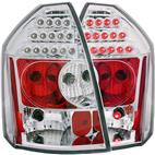 ANZO USA-321010-Tail Light Assembly; LED; Clear Lens; Red Reflector; Pair; Chrome;